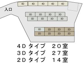コンテナ収納のマルフジストレージ区画図